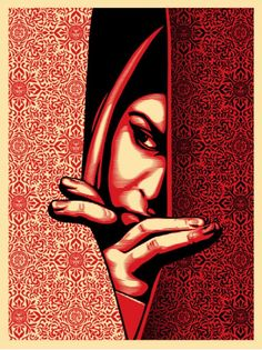Israel Palestine RED - Screen Print by Shepard Fairey - Obey Giant