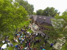 This couple had a drone take a few wedding photos! How cool for an aerial wedding picture idea