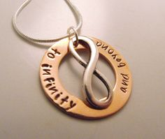 To Infinity and Beyond Hand Stamped Necklace by CourtenayJDesigns, $35.00