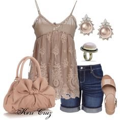 """Beige Bombshell"" by keri-cruz on Polyvore"