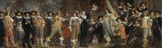 Officieren en andere schutters van wijk VIII  in Amsterdam onder leiding van kapitein Roelof Bicker en luitenant Jan Michielsz Blaeuw, Bartholomeus van der Helst, 1639
