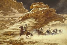 Frank McCarthy (American, 1924 — 2002) 'Dust Stained Posse'