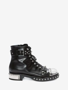 Shop Women's Hobnail Ankle Boot from the official online store of iconic fashion designer Alexander McQueen.