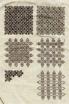 Blackwork - looking right to left, it's the same pattern with more elements.