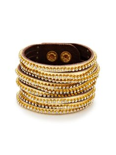 Leather & Crystal Multi-Strand Bracelet by Presh on Gilt.com