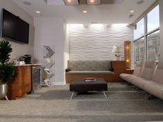 Reception  Wall and Bench (like the wood, different fabric)