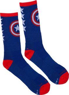 Captain America Athletic Socks