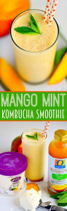 This Mango Mint Kombucha Smoothie is both refreshingly delicious and super healthy! A great start to any day! | eBay