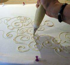 Flour paste batik - great tutorial by roji