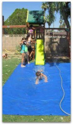 DIY Slip and slide