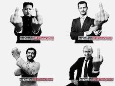"""Campagne de propagande de """"Reporters sans frontières"""": manipulation et subjectivité  En lisant la totalité de l'article on a le plaisir de découvrir quelques détournements parodiques et savoureux de cette campagne pour le moins partiale, avec, entre autres """"héros"""", Obama, BHL, et quelques journaleux trop connus..."""
