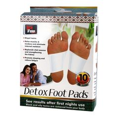 10 Pads Healing Foot Detox Pads Adhesive Detoxify Relieve Fatigue Health Care  #TotalVision