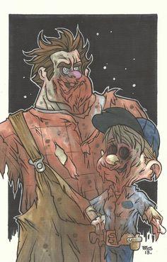 Zombie Wreck-It Ralph & Fix-It Felix - Piers Hazell