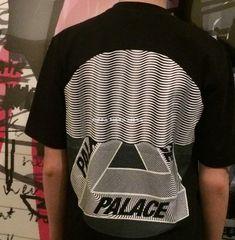 85186374b11c PALACE skateboarding tide brand Tri-Curtain wave ripples short-sleeved Hyun  halo eye-