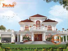 Design beautiful villa in Da Lat – – Website House Arch Design, Kerala House Design, Home Building Design, Bungalow House Design, Classic House Exterior, Classic House Design, Unique House Design, Beautiful House Plans, Dream House Plans