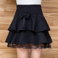 Gray/black lolita bowknot skirt · Fashion Kawaii [Japan & Korea] · Online Store Powered by Storenvy Dresses Kids Girl, Girl Outfits, Dress Skirt, Lace Skirt, Skirt Boots, Girl Fashion, Fashion Dresses, Style Fashion, Winter Skirt