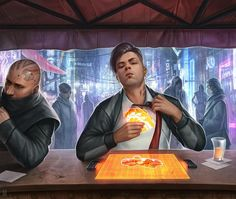 """Android - """"Push Your Luck"""" - A gallery-quality illustration art print by Matt Zeilinger for sale."""