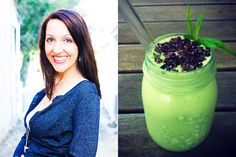MINT CHOC CHIP SMOOTHIE    Print Serves: 1 - 2 Ingredients: 350ml coconut water 1 large frozen banana (pre-cut into pieces for easier blending) 4 Medjool dates, pitted ⅔ cup raw cashews ½ avocado (optional – for extra creaminess, nutrition and colour) 2 handfuls baby spinach (you won't even know it's there, trust me) ⅓ cup mint leaves, firmly packed ½ tsp pure vanilla extract 1 tsp maca powder (optional – I didn't have any in the house last night and it was still good!) Small pinch of sea…