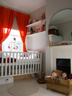 Unisex nursery with bright colours {GrowingSpaces}