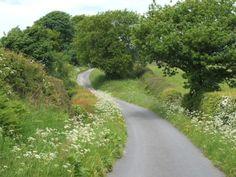 Lane at Hurst Green in Lancashire, England
