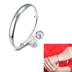 Fashion Sweet Bracelets Round Ball Drop Bracelet 925 Sterling Silver Bracelet Bracelet Bangles Jewelry for Gifts 88 @M23
