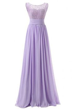 Bridesmaid Dresses - Dresstells Long Prom Dress Scoop Bridesmaid Dress Lace Chiffon Evening Gown *** More info could be found at the image url. Ruffles Bridesmaid Dresses, Bridesmaid Dresses Online, Prom Party Dresses, Dress Party, Prom Gowns, Trendy Dresses, Simple Dresses, Formal Dresses, Chiffon Dress Long