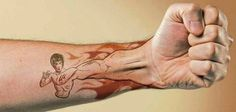 One of the best #tattoo we found on the web. Hats off to the artist.