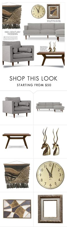 """""""Clean Spaces: Mid-Century Modern"""" by dolly-valkyrie ❤ liked on Polyvore featuring interior, interiors, interior design, home, home decor, interior decorating, Joybird, Baxton Studio, modern and midcenturymodern"""