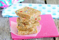 cake batter bars! P GF RV