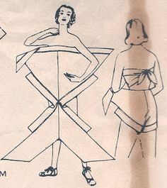 This pattern, is for a diaper wrap style vintage swimsuit