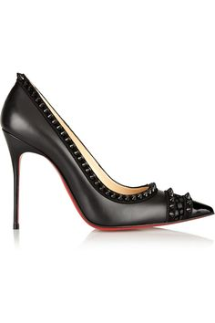 Christian Louboutin | Malabar Hill 100 spiked leather pumps | NET-A-PORTER.COM