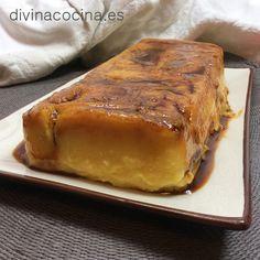 Tarta de flan y sobaos - Divina Cocina