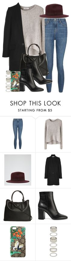 """""""Sin título #4174"""" by hellomissapple on Polyvore featuring moda, Topshop, T By Alexander Wang, Reiss, STELLA McCARTNEY, Prada, Gianvito Rossi, Gucci y Forever 21"""