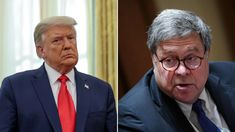 President Trump hinted he'll consider firing attorney general Bill Barr - one of his top supporters - two days after Barr said Joe Biden won this year's election Us Attorney, Attorney General, Lou Holtz, Feel Good Stories, Swing State, Rudy Giuliani, Us Election, Who Said