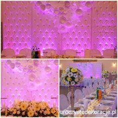 Dekoracja sali weselnej osp Załęże