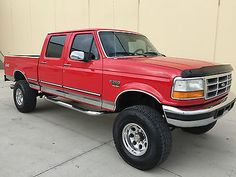 CLEAN LIFTED 1997 FORD F250 CREW SHORTBED XLT LIFTED 4X4 7.3 POWERSTROKE DIESEL