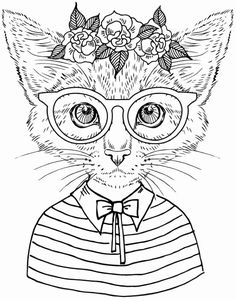 Cat Coloring Book for Adults New Best Coloring Books for Cat Lovers Cleverpedia Cat Coloring Page, Cool Coloring Pages, Animal Coloring Pages, Coloring Pages To Print, Printable Coloring Pages, Coloring Pages For Kids, Coloring Sheets, Coloring Books, Coloring Worksheets