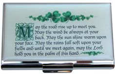 Business Card Holder with Irish Blessing