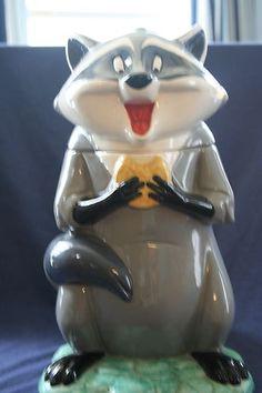 Disney Meeko Pocahontas Treasure Craft Cookie Jar   eBay