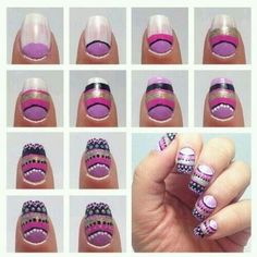 Step By Through Wonderful Nails Nail Care Creative Diy Cute