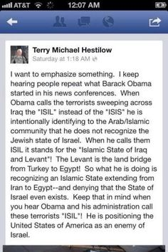"""Everyone else calls them """"ISIS."""" Obama calls them """"ISIL."""" Is there a reason? Yep!"""