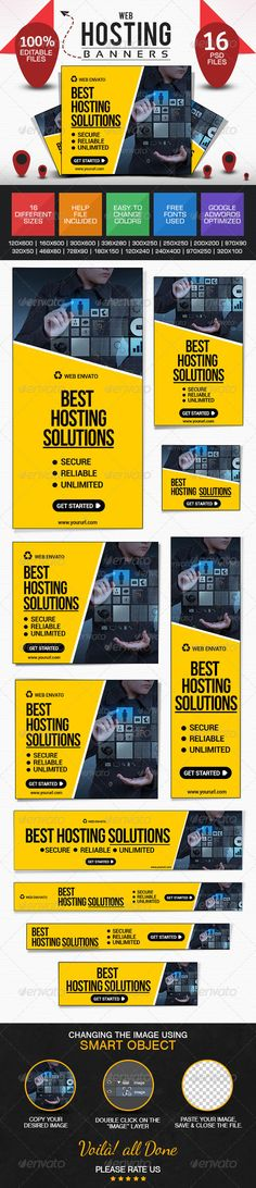 Web Hosting Banners Template PSD | Buy and Download…