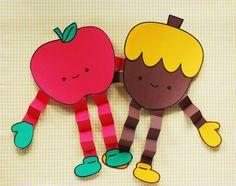 Happy Apple & Acorn Friends Printable // wild olive
