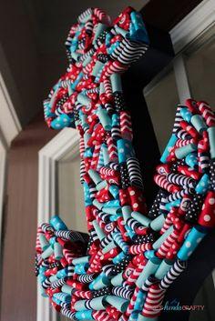 Anchors Away | Nautical Ribbon Anchor Wreath