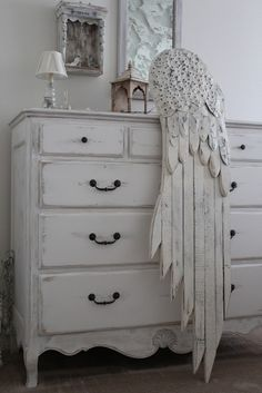 Wing. Built with salvaged wood and galvanized tin....Burlap Luxe