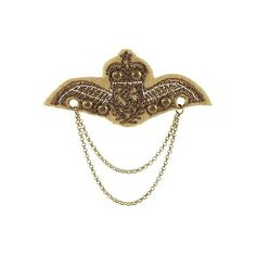 BKE Military Pin ($2) ❤ liked on Polyvore featuring jewelry, brooches, accessories, steampunk, pins, steampunk jewelry, pin brooch, metallic jewelry, military jewelry and studded jewelry