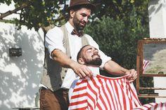 Novio preparado para arreglarse la barba por La Barbería Valencia by @fandi_es #novio #groom #groomsmen #noivo #bestman #noviofandi #barbería #barber #beard