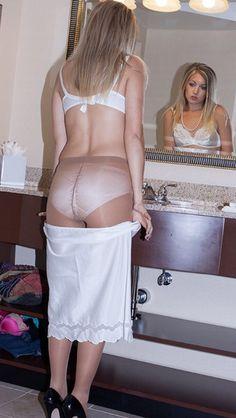 Her Nylon Pantyhose Until 34