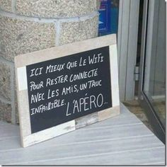 Photo shared via Share. Le Wifi, Sign O' The Times, Grandma Quotes, Garden Quotes, French Quotes, Refreshing Drinks, Some Words, Words Quotes, Letter Board