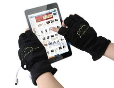 wears fingerless gloves android tablet - Google Search